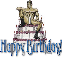 happy birthday cake, sexy male stripper