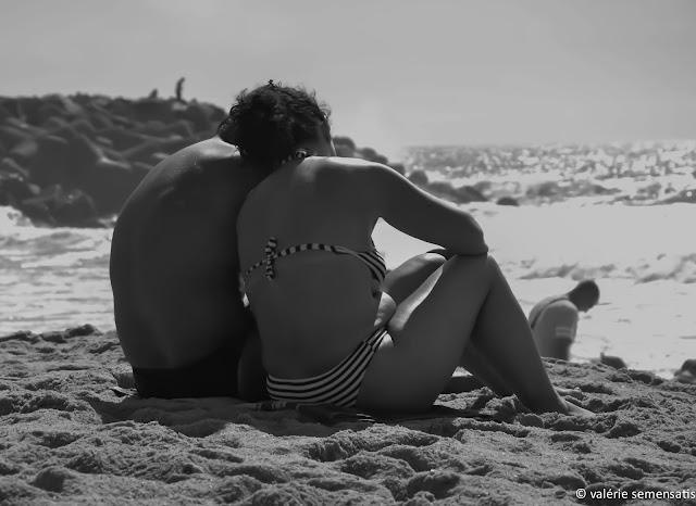 amoureux sur une plage
