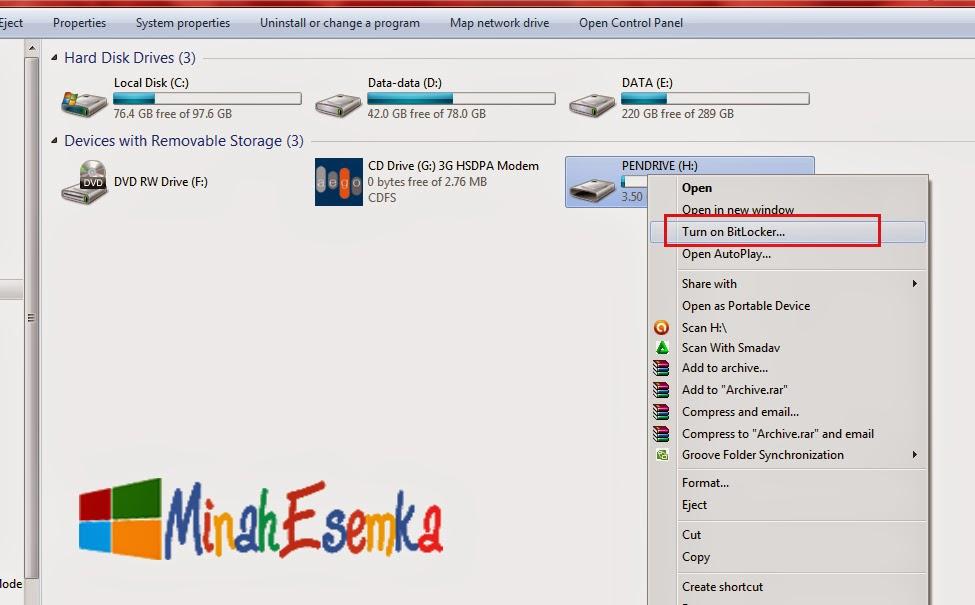 Cara Memberi Password Pada Flashdisk Tanpa Software