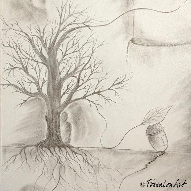 Disegno di un albero spoglio