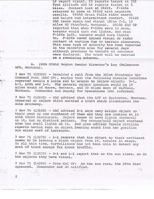 NORAD Command Directors Log - B