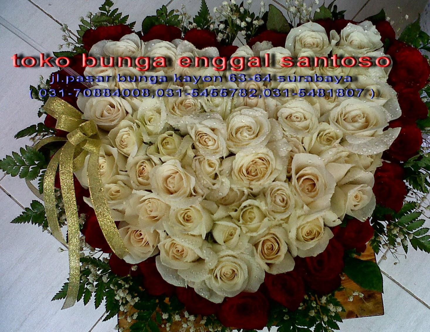 karangan bunga mawar