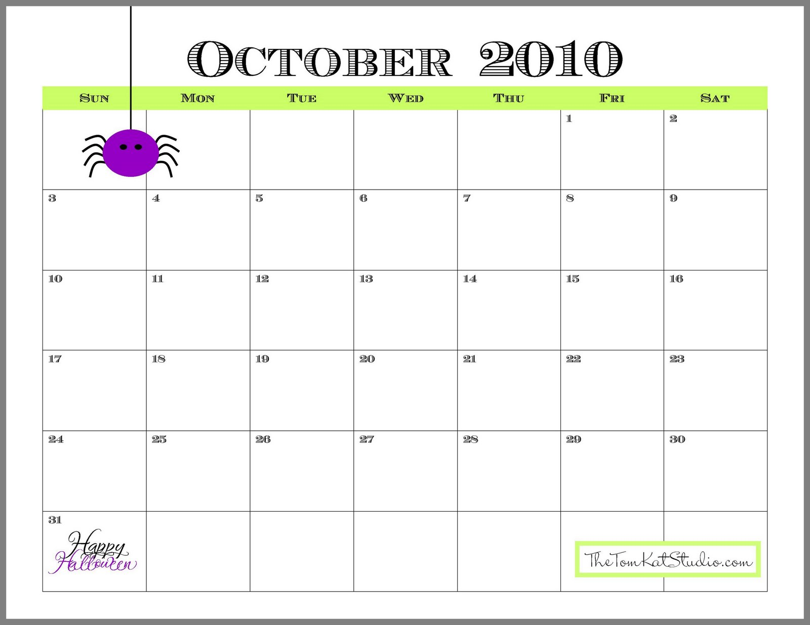 almost October so here is your free printable calendar for the month gJTidHI4