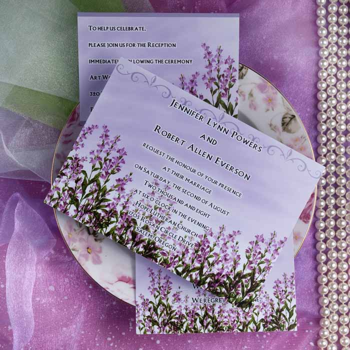 Your lavender wedding invitations