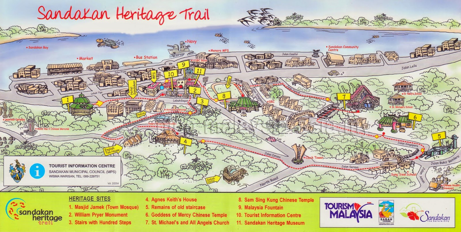 Sandakan Heritage Trail Map