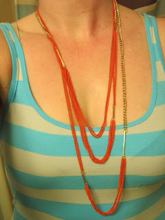 All The Rage Orange Chain Necklace