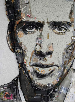 recycled celebrities art by Jason Mecier 5 Bila Sampah Dijadikan Lukisan Selebriti