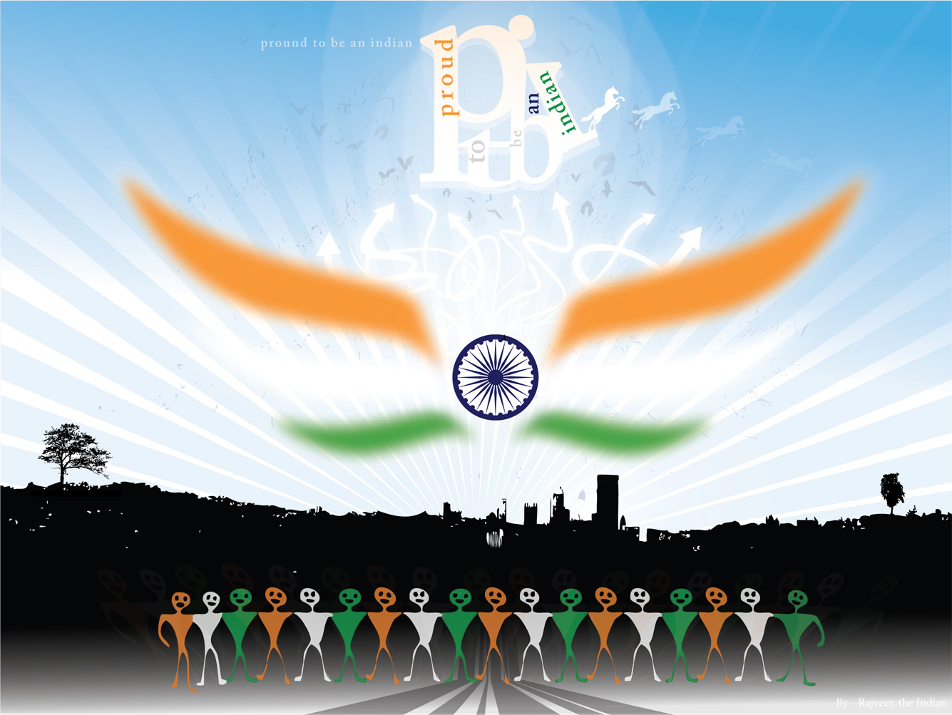 Indian flag wallpaper graphics