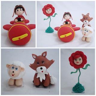 Personagens do Pequeno Príncipe em biscuit