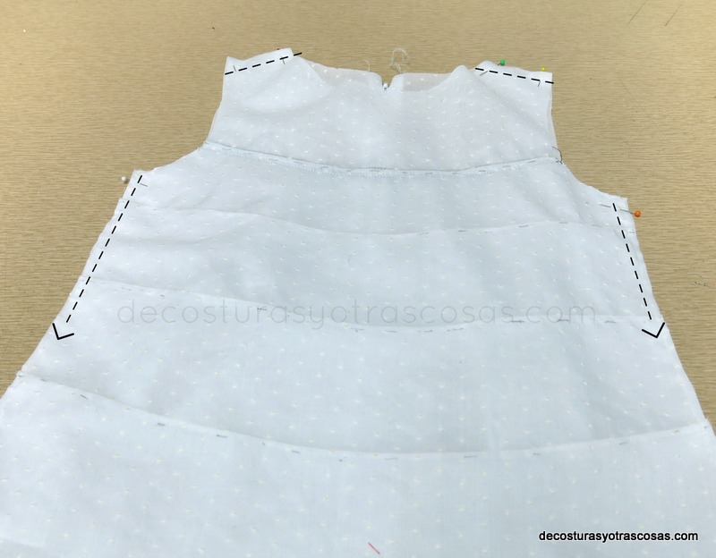 blusa de algodón sin mangas