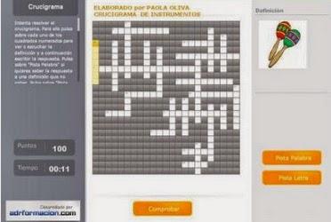 CRUCIGRAMA DE INSTRUMENTOS