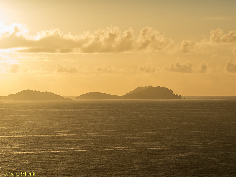 Golden light over Blaskets