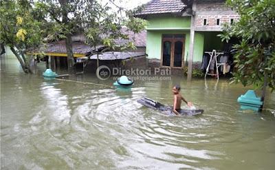 dokumentasi foto banjir di juwana pati