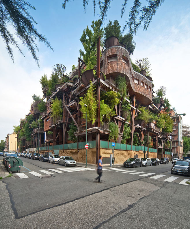 Bosque Vertical: Una casa del árbol urbano que proteger a los residentes de la contaminación atmosférica y acústica