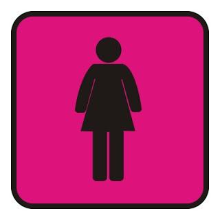 Pictograma de banheiro feminino