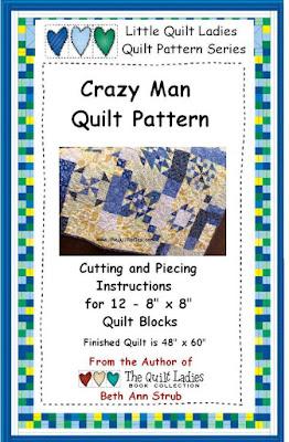Crazy Man Quilt Sampler Pattern Digital Download by The Quilt Ladies