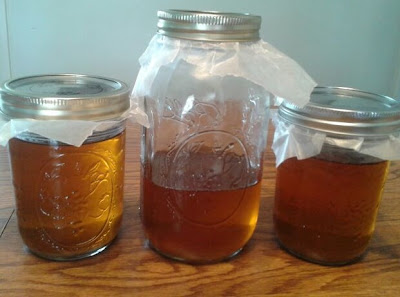 Decanted, finished syrup