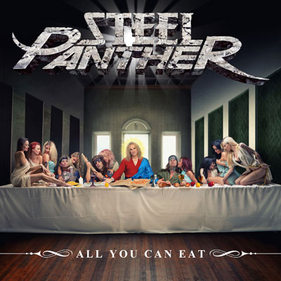 The 10 Best Album Cover Artworks of 2014: 10. Steel Panther - All You Can Eat
