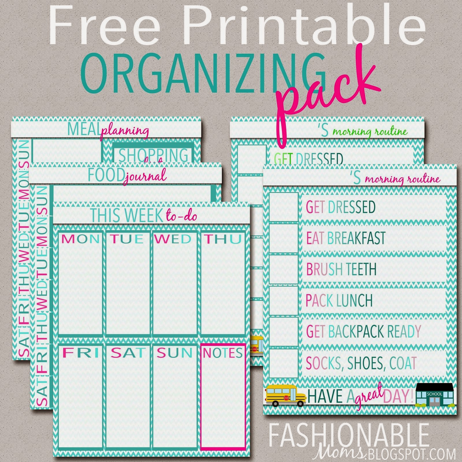 Organization Calendar For Moms : My fashionable designs free printable organizing pack