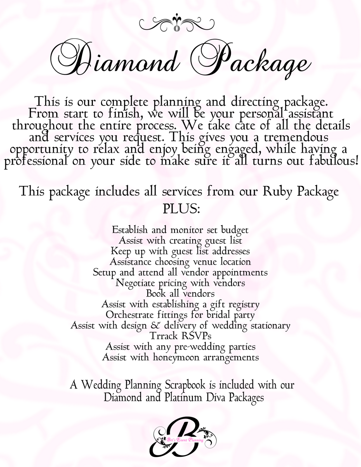 Bris Event Planning Our Wedding Packages