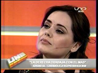 Adriana Gil Moreno en Uno Decide de la Red Uno