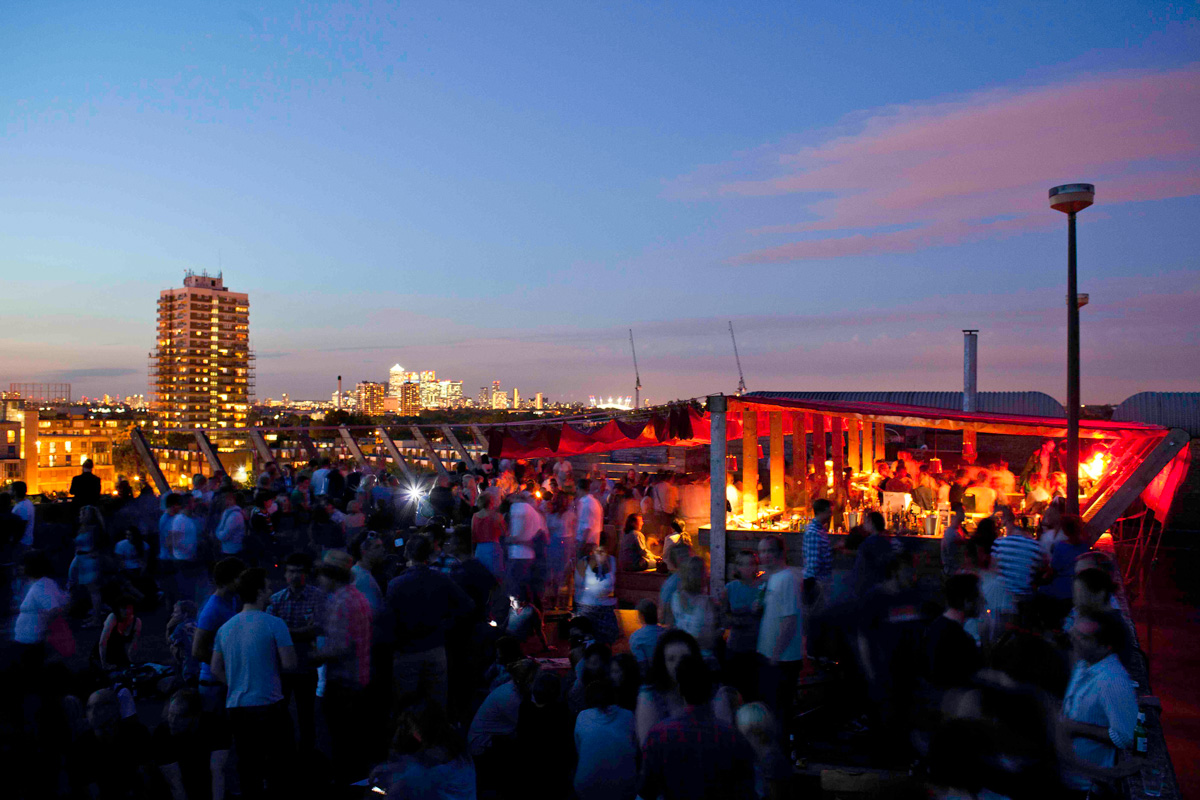 London Pop Ups Frank S Cafe Peckham S Original Rooftop
