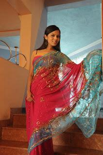 Nethu priyangika saree style