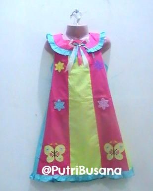 putri busana | dress pesta pelangi