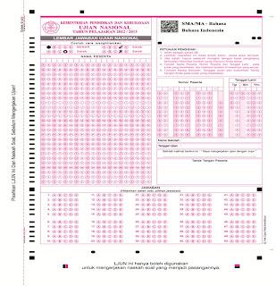 contoh lembar jawaban komputer, LJK UN, LJUN, Lembar Jawaban Komputer, Cara membuat Lembar Jawaban Komputer