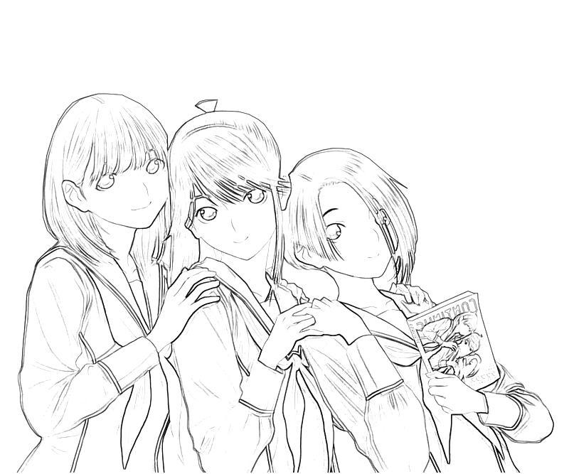 printable-kobayakawa-rinko-friends-coloring-pages