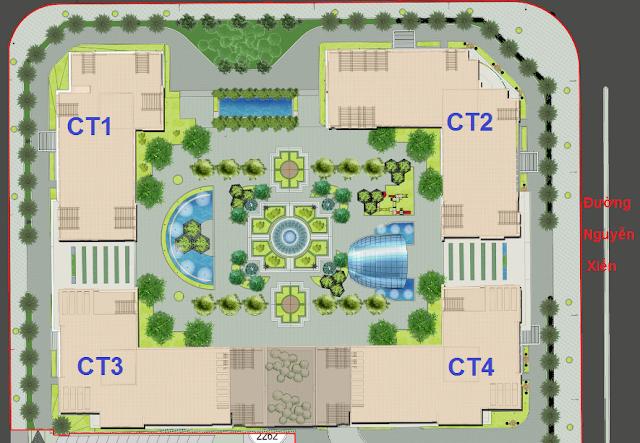 Mặt bằng dự án Eco Green City Nguyễn Xiển