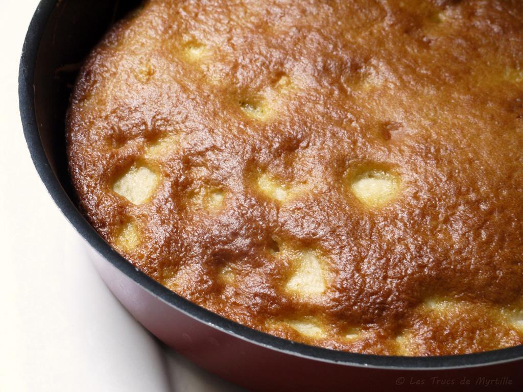 Voir la recette du gâteau moelleux aux pommes et au fromage blanc