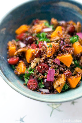 Quinoa with Butternut Squash and Cranberries #vegan #glutenfree