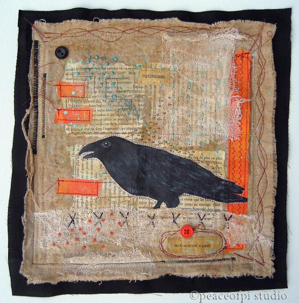 peaceofpi studio: In the Crow's Nest Mixed Media Art Quilt : mixed media quilts - Adamdwight.com