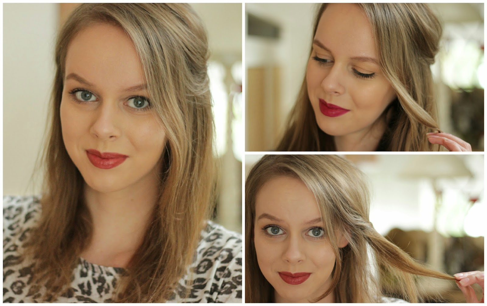 half-up half-down haarstijl