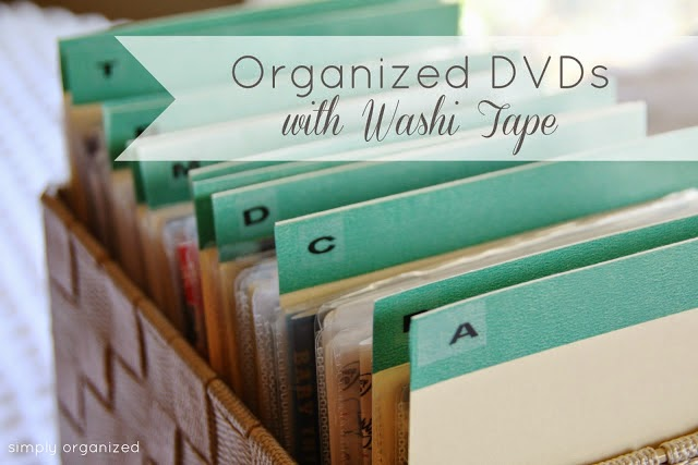 Organize DVDs -- 11 Ways to Organize with Washi Tape :: OrganizingMadeFun.com