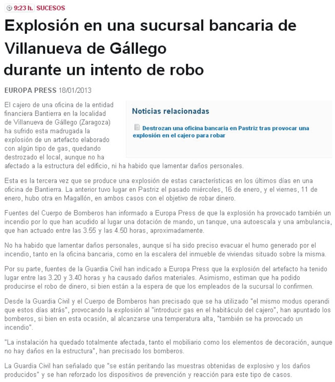 El blog de san mateo de g llego robo en bantierra de - El tiempo en san mateo de gallego ...
