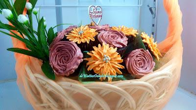 cupcake basket hantaran / kek cawan dalam bakul