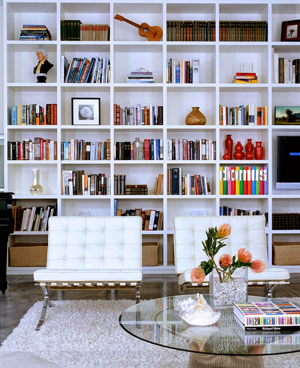 Modern White Home Library