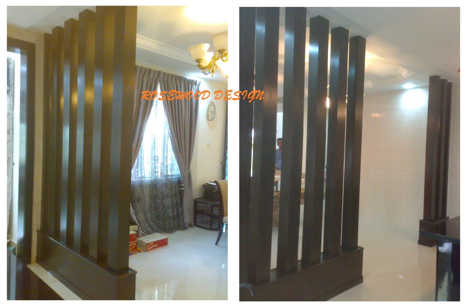 Rosewood design living room dividers for Living dining room separation ideas