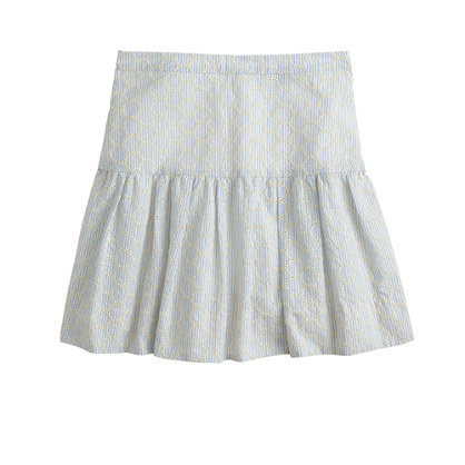 Esplanade Skirt in Seersucker Eyelet