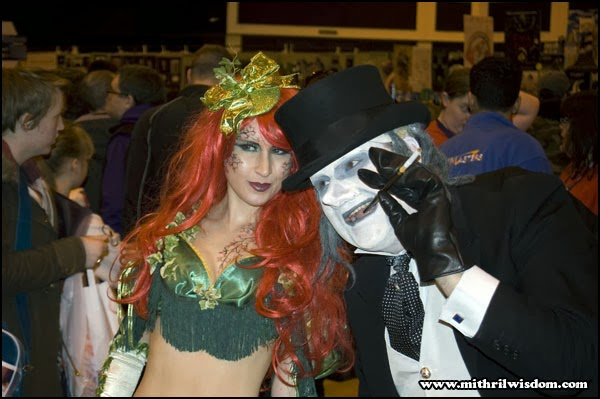 Poison Ivy and the Penguin at Cardiff Comic Con 2014
