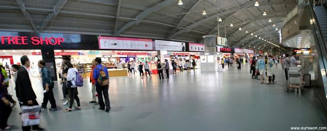 Tiendas del aeropuerto de Busan en Corea