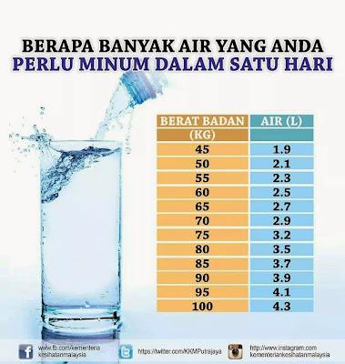 Berapa banayak air perlu minum
