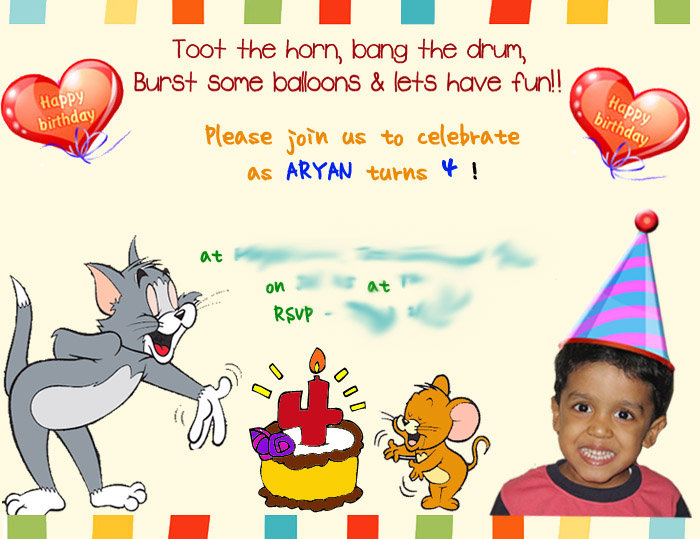 A Birthday Card For 4 Year Old Boy