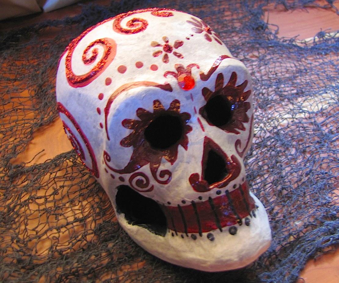 Crimson Glimmer Skull