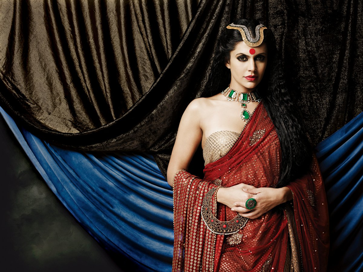 Mandira Bedi Gaja Jewellery Ad Photo Shoot