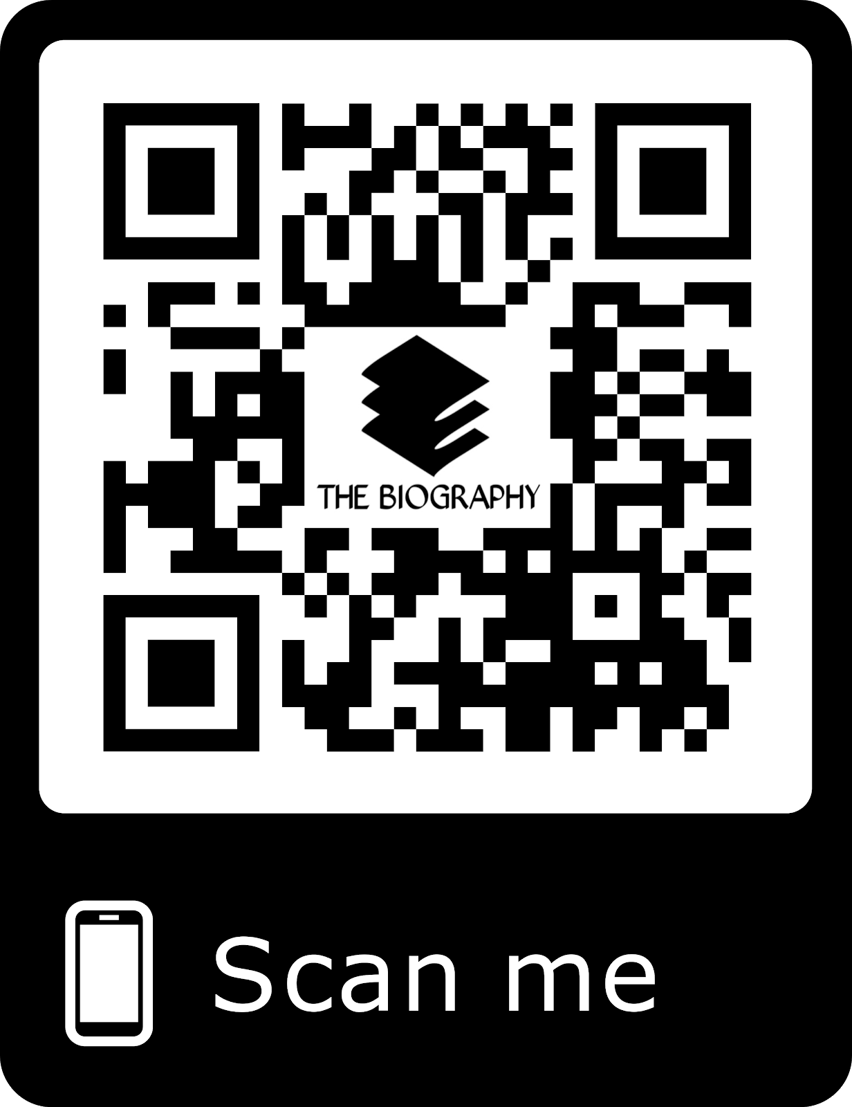 Bar Code For Biography App Download or Click The Bar Code
