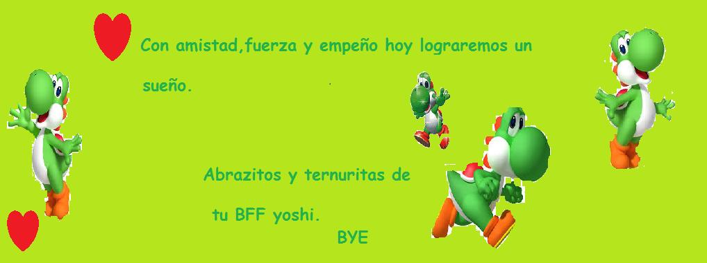 La despedida personal de Yoshi