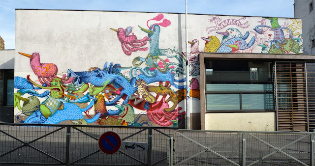 Street Art By Alëxone For The Kosmopolite Street Art Festival In Bagnolet, France. 1